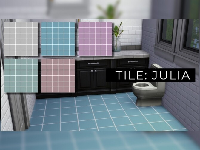 Sims 4 Tile JULIA by anne mcfly at TSR