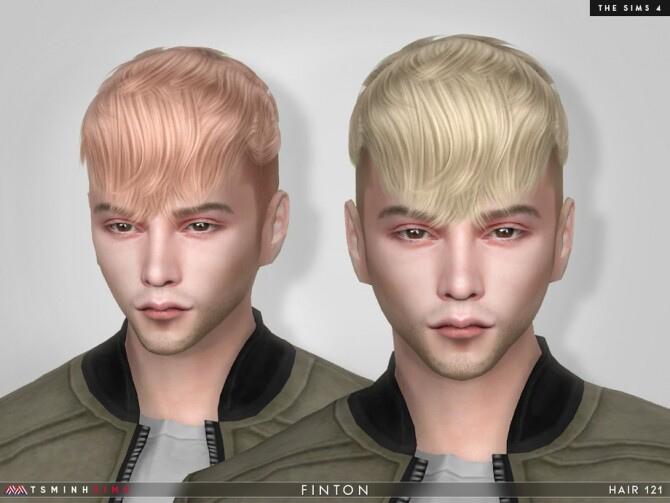 Sims 4 Finton Hair 121 by TsminhSims at TSR