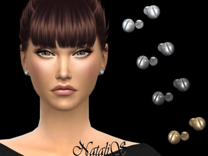Screw stud earrings by NataliS