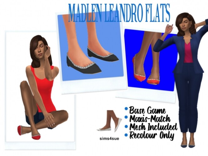 BG ANKLE SOCKS and MADLENS LEANDRO FLATS