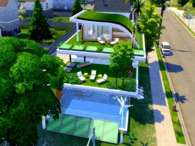 Eco modern house by GenkaiHaretsu at TSR image 1170 670x503 Sims 4 Updates