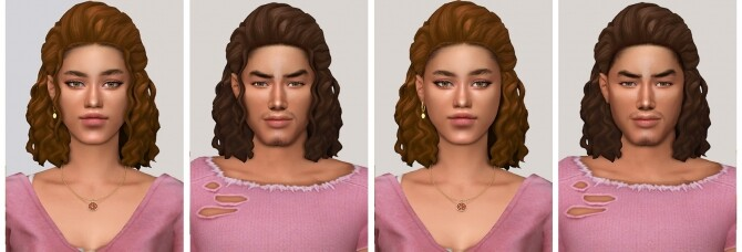Sims 4 ANDRE hair at SimsTrouble