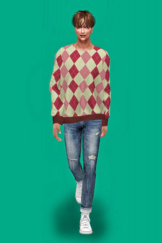 Sims 4 Male sweatshirts at L.Sim