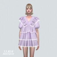 Frill 3 Tiered Mini Dress