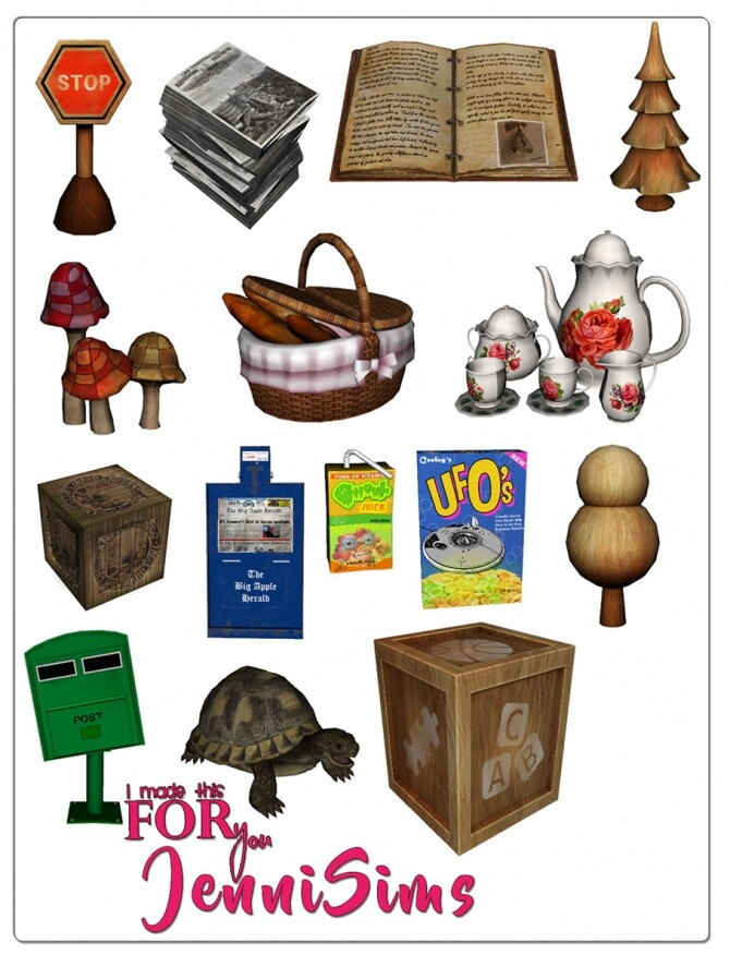 Sims 4 CLUTTER DECORATIVE (15 ITEMS) at Jenni Sims