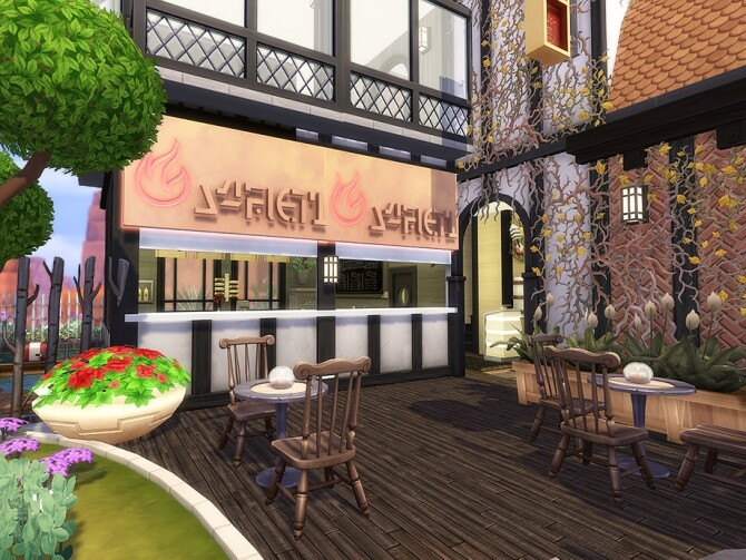 Old Asian Diner by Ineliz at TSR image 1219 670x503 Sims 4 Updates
