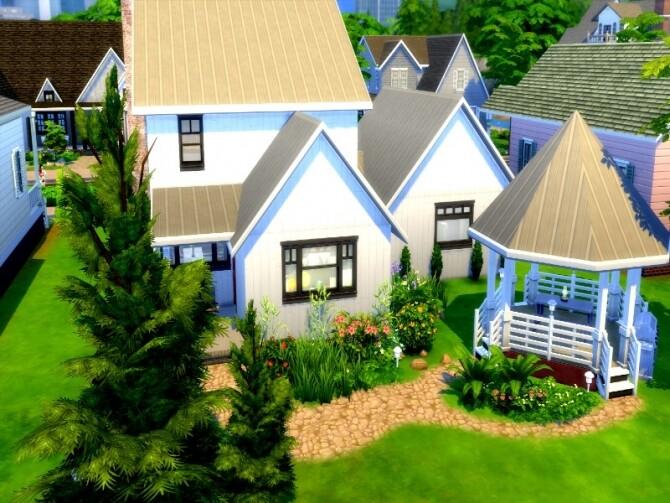 Sims 4 Hariette modern farmhouse by GenkaiHaretsu at TSR