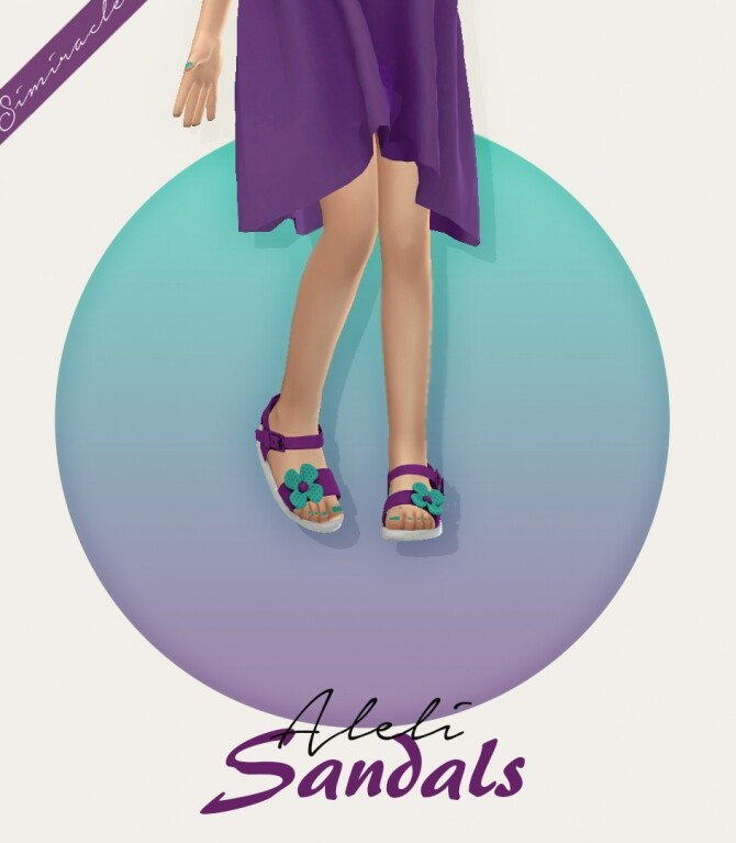 Aleli Sandals Kids Version 3T4 at Simiracle image 12221 670x767 Sims 4 Updates