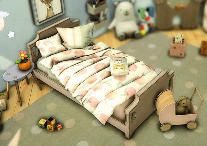 Sims 4 Sue Toddler's Bedding Set at Sims4Nicole
