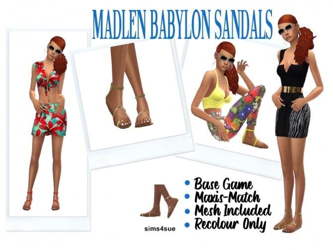 MADLEN'S BABYLON SANDALS at Sims4Sue image 1229 670x503 Sims 4 Updates