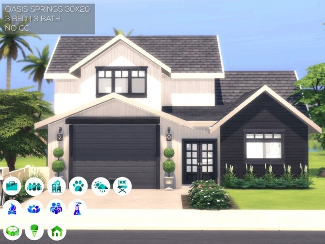 Sims 4 New American Home by Summerr Plays at TSR