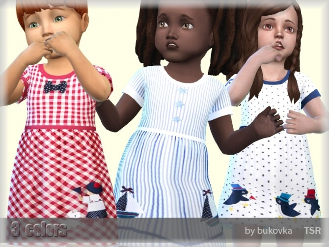 Sims 4 Dress Toddler by bukovka at TSR