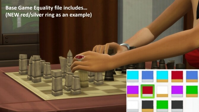 Sims 4 Marquise Ring Recolour by Neonicalle at TSR