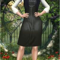 denim dungaree dress