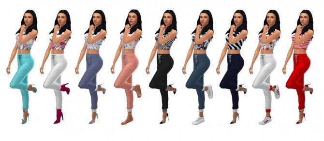 Sims 4 EP08 CUFFED JOGGERS at Sims4Sue