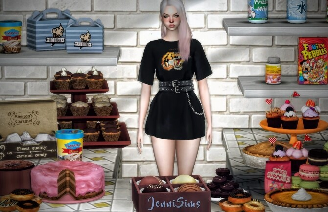 Sims 4 Tea and cakes clutter 23 ITEMS at Jenni Sims