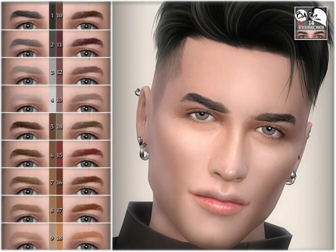 Sims 4 Eyebrows 14 by BAkalia at TSR