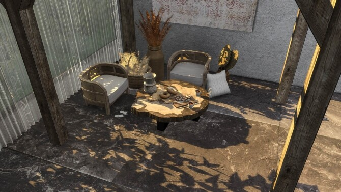Sims 4 Sandstone tile set at Simspiration Builds