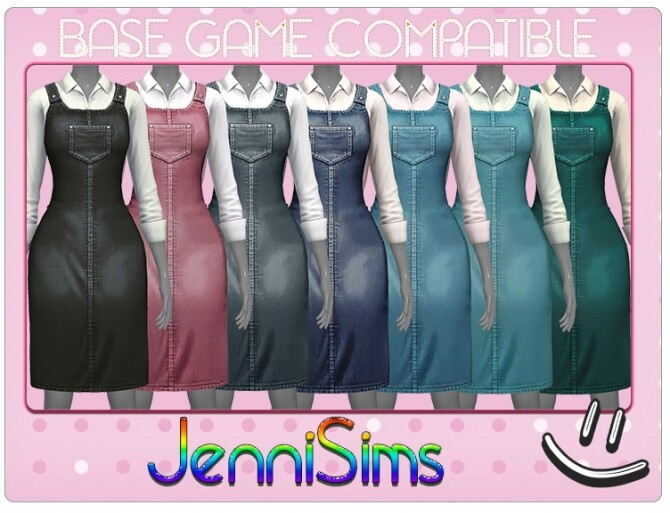 Denim dungaree dress at Jenni Sims image 13017 670x513 Sims 4 Updates