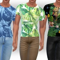 Male Sims Summer Egzotic Tops by Saliwa