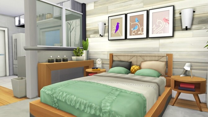 Sims 4 ECO FRIENDLY ROOMMATES HOUSE at Aveline Sims