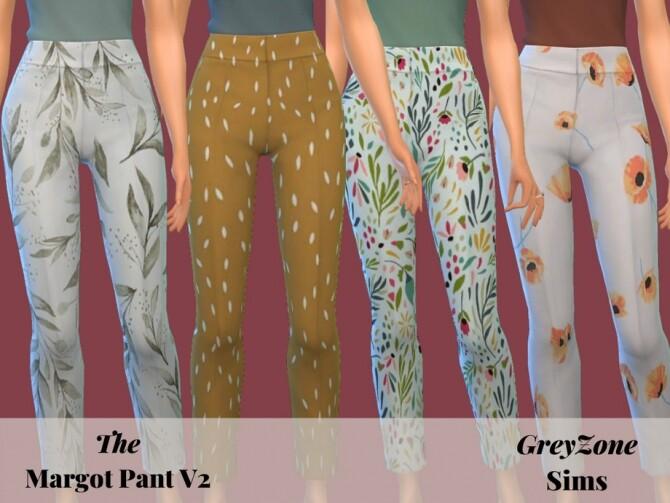 Sims 4 Margot Pants V2 by greyzonesims at TSR