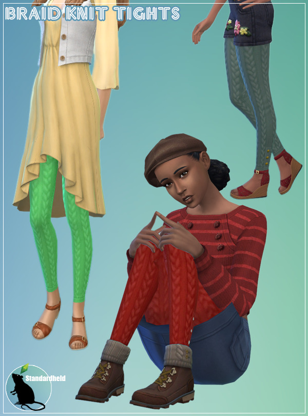 Sims 4 Braid Knit Tights at Standardheld