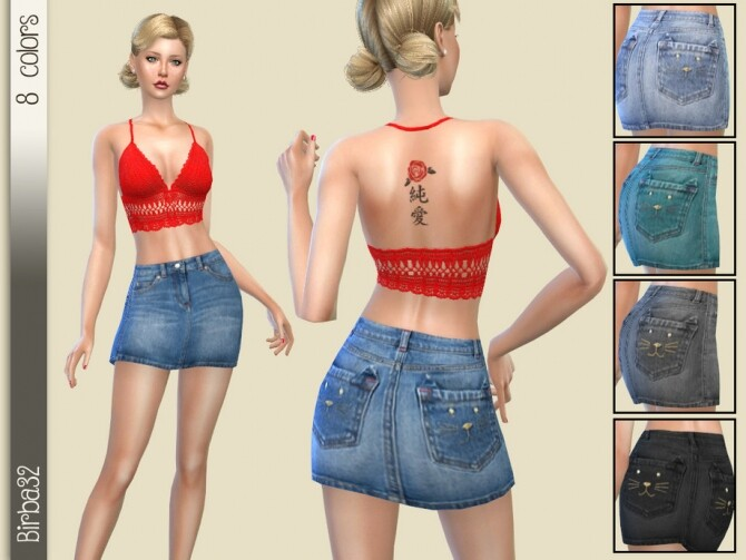 Kitty skirt by Birba32 at TSR image 13120 670x503 Sims 4 Updates