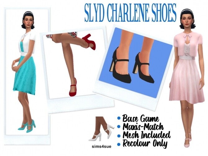 SLYD'S CHARLENE SHOES at Sims4Sue image 13219 670x503 Sims 4 Updates