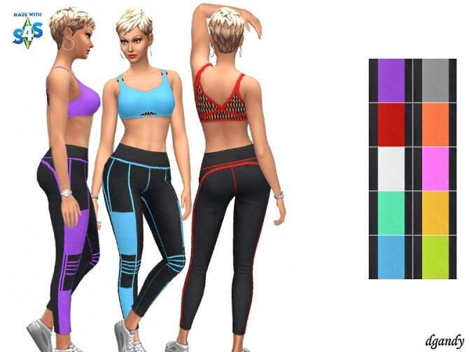 Sims 4 Leggings and Top Set by dgandy at TSR