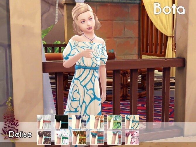 Bota dress for girls by Delise at Sims Artists image 13314 670x503 Sims 4 Updates