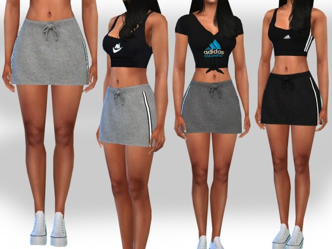 Sims 4 Female Sport Skirts by Saliwa at TSR