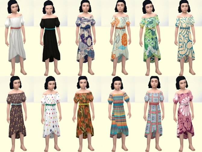 Bota dress for girls by Delise at Sims Artists image 13413 670x503 Sims 4 Updates