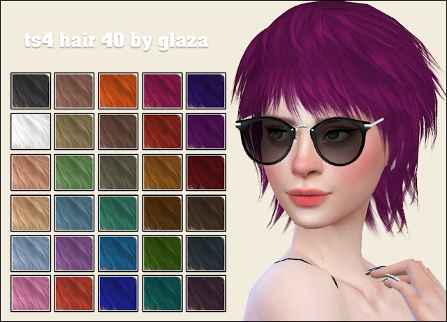Hair 40 at All by Glaza image 13416 Sims 4 Updates