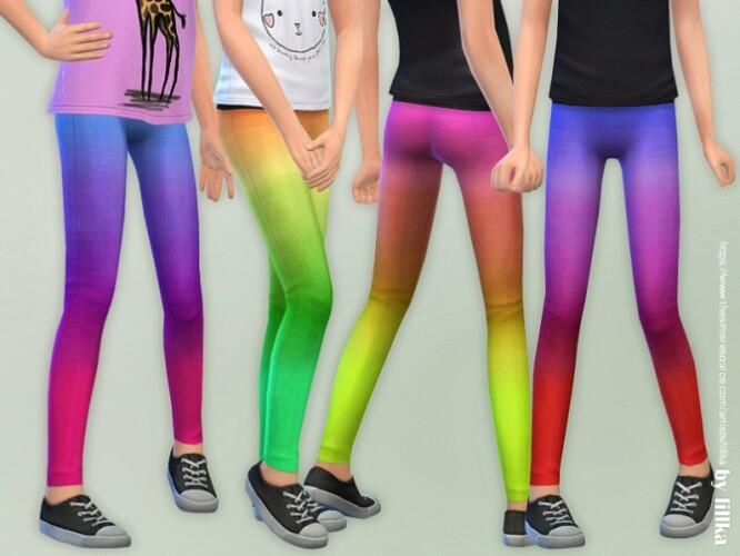 Ombre Leggings for Girls by lillka