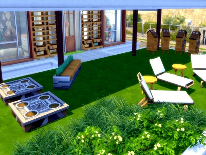 Eco modern house by GenkaiHaretsu at TSR image 1350 670x503 Sims 4 Updates