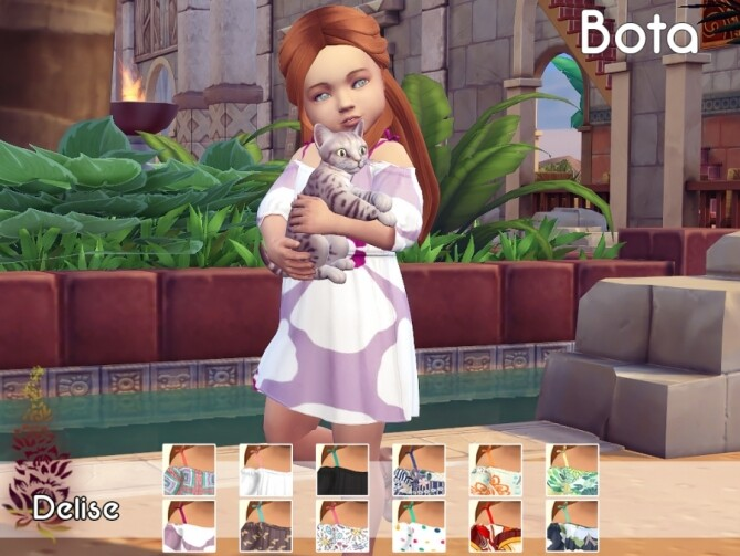 Sims 4 Bota dress for little girls by Delise at Sims Artists