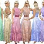 Formal silk dress by TrudieOpp