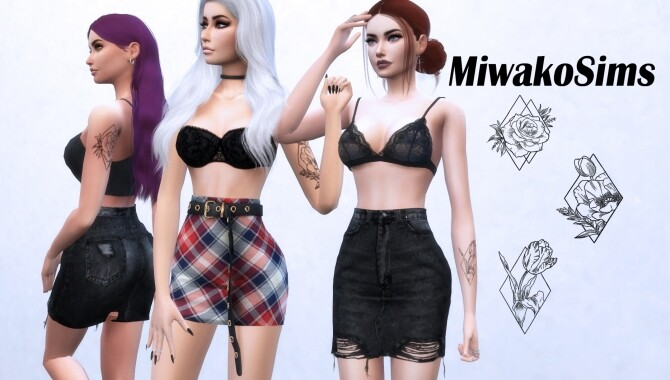 Collection 15 tattoos by Miwako Sims