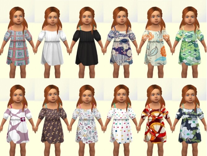 Bota dress for little girls by Delise at Sims Artists image 13612 670x503 Sims 4 Updates