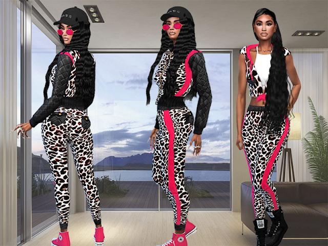 Sims 4 Jacket, top and pants at Teenageeaglerunner
