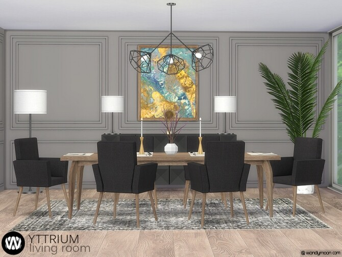 Yttrium Dining Room by wondymoon at TSR image 13719 670x503 Sims 4 Updates