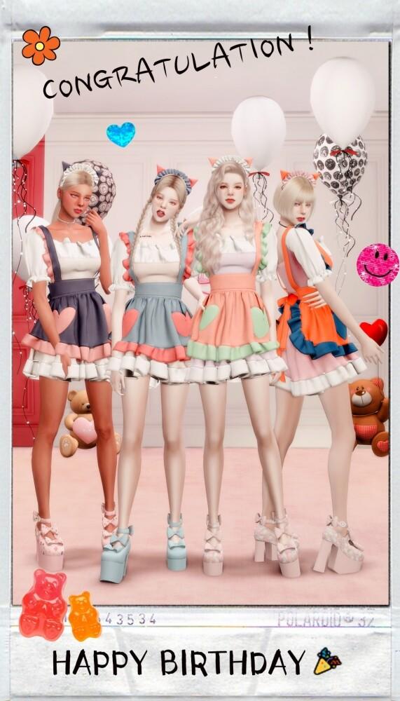 Sims 4 MY BIRTHDAY PRESENT: dress & hat at RIMINGs