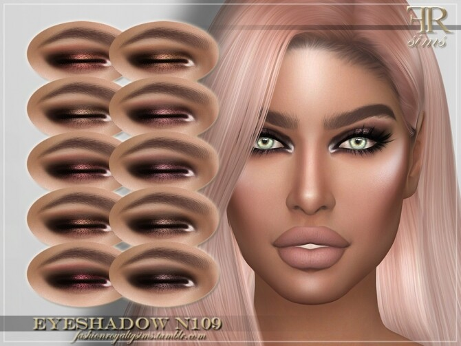 Sims 4 FRS Eyeshadow N109 by FashionRoyaltySims at TSR