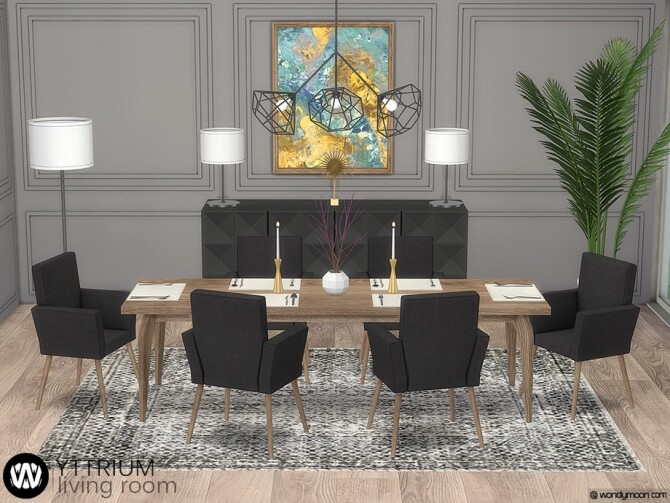 Yttrium Dining Room by wondymoon at TSR image 13818 670x503 Sims 4 Updates