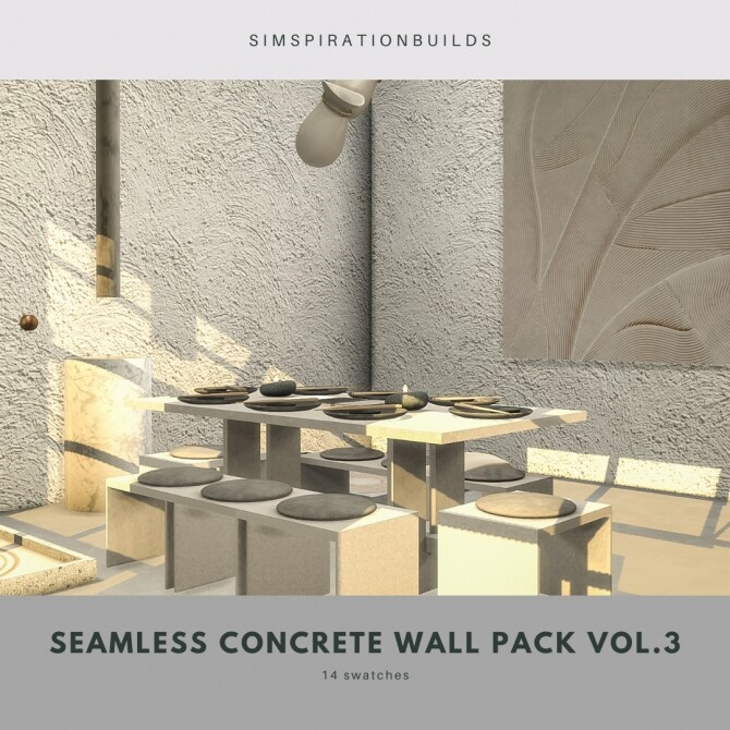 Seamless Concrete Wall Pack Vol.3 at Simspiration Builds image 13913 670x670 Sims 4 Updates
