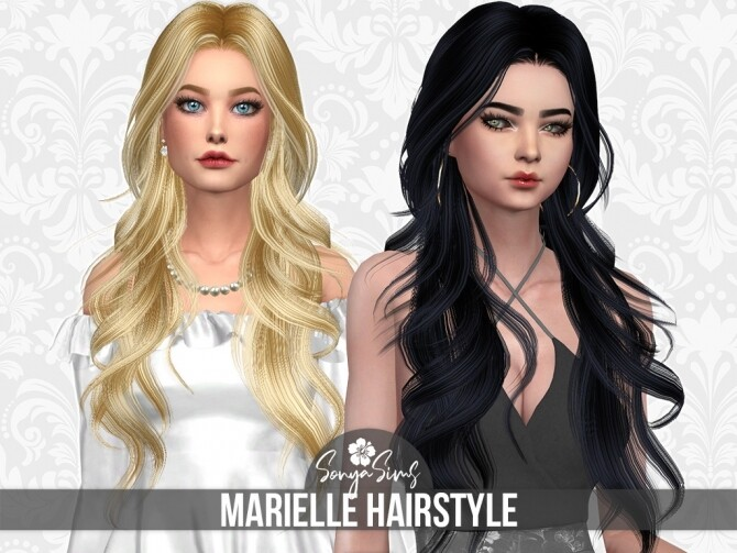 Sims 4 SPOTLIGHT & MARIELLE hairs at Sonya Sims