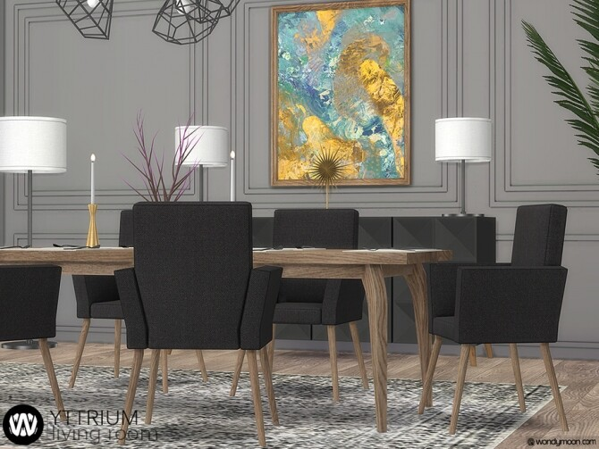 Yttrium Dining Room by wondymoon at TSR image 13918 670x503 Sims 4 Updates