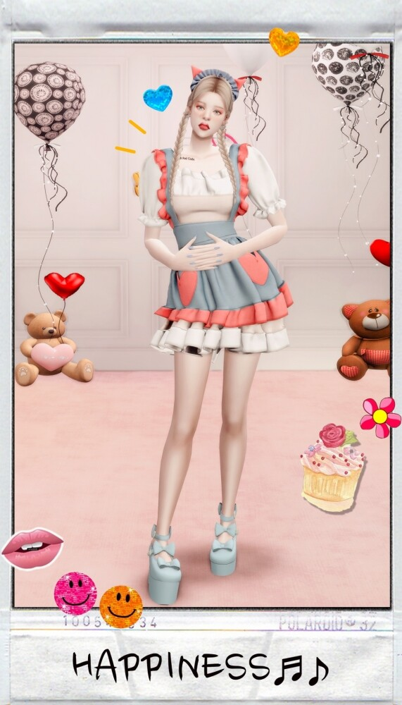 MY BIRTHDAY PRESENT: dress & hat at RIMINGs image 14019 571x1000 Sims 4 Updates