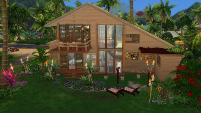 Bamboo house by Falco at L'UniverSims image 1406 670x377 Sims 4 Updates